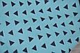 """Безразмерная пеленка на молнии + шапочка """"Каспер"""", Треугольники голубые, фото 4"""