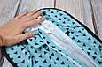 """Безразмерная пеленка на молнии + шапочка """"Каспер"""", Треугольники голубые, фото 8"""