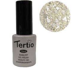 Гель-лак Tertio №189 сиребряный с крупными блестками 10 мл