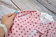 """Безразмерная пеленка на молнии + шапочка """"Каспер"""", Треугольники розовые, фото 8"""