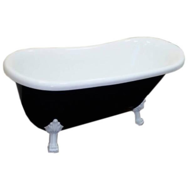 Ванна акриловая Atlantis C-3015 черная (ноги белые)