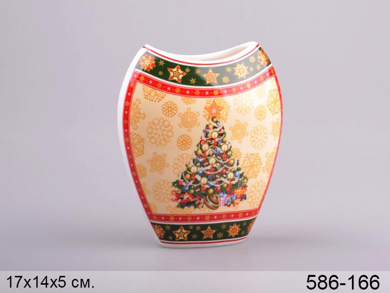 """Ваза """"новогодняя коллекция"""" 17 см, Lefard, 586-166"""