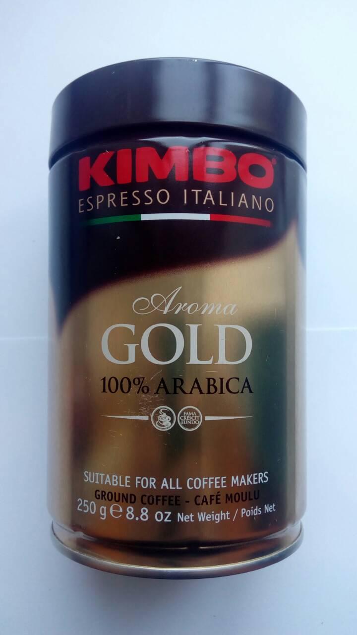 Молотый кофе Kimbo Aroma Gold 100% Arabica ж/б  250 грамм