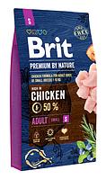 Сухой корм Brit Premium Adult S Брит для собак мелких пород  3 кг