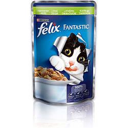 Влажный корм для кошек Felix Fantastic ( Феликс Фантастик ) 100 гр с кроликом в желе, пауч.