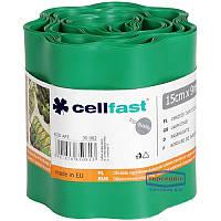 Бордюр садовый зеленый 9м * 15см Cellfast 30-002