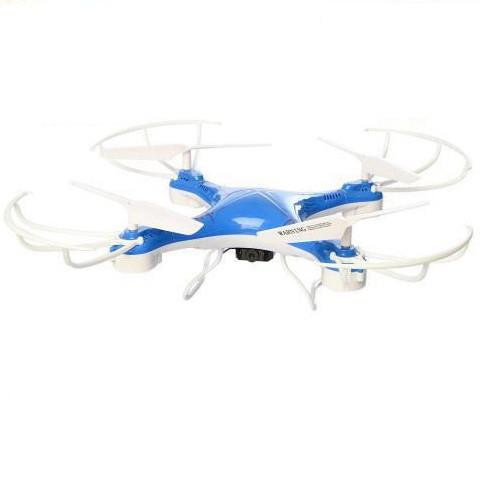 Квадрокоптер дрон радиоуправляемый с камерой и WIFI Спартак CF-888-3 Blue