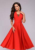 Клешное платье без рукавов  PR15