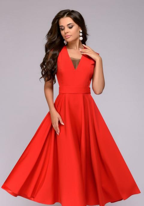 Клешное платье без рукавов  PR15, фото 1