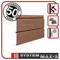 Сайдинг VOX MAX-3, панель плоская 3,85м х 0,25м., цвет Золотой дуб