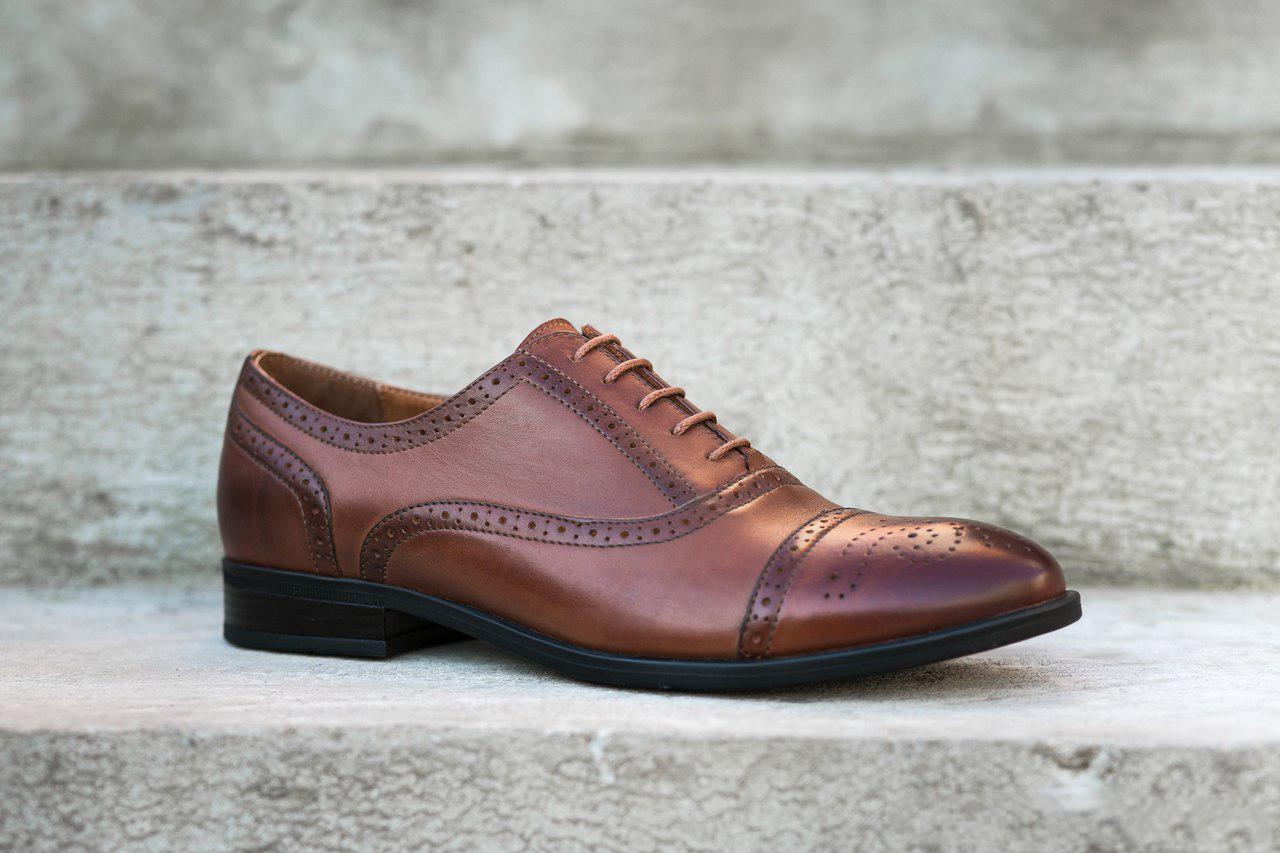 Коричневі броги ІКОС/IKOS - взуття успішних чоловіків!