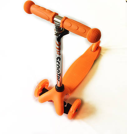 Трехколесный детский самокат 21 Scooter - Mini - Оранжевый, фото 2