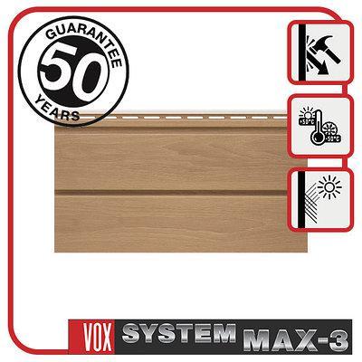 Сайдинг VOX MAX-3, панель плоская 3,85м х 0,25м., цвет: Дуб