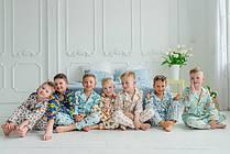 Пижамы из натурального хлопка для мальчиков