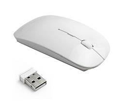 Беспроводная ультратонкая мышь UKC Apple 2.4 GHz белая