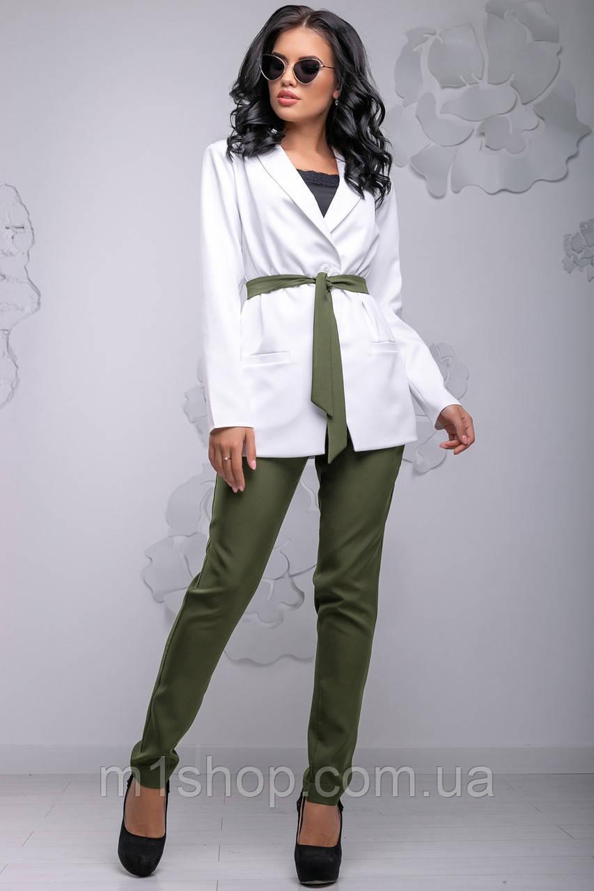 f0062f7e7ff Женский брючный костюм с жакетом и поясом (2762-2760 svt) - « m1shop