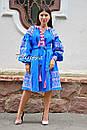 Платье вышиванка лен этно стиль бохо шик, вишите плаття вишиванка платье бохо, синее платье, фото 8