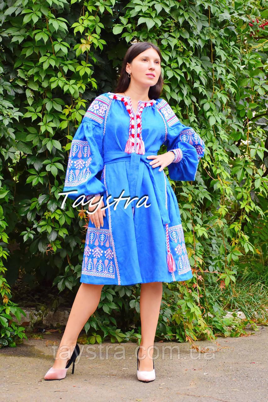 06dc85753e9afa Платье вышиванка лен этно стиль бохо шик, вишите плаття вишиванка платье  бохо, синее платье