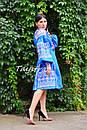 Платье вышиванка лен этно стиль бохо шик, вишите плаття вишиванка платье бохо, синее платье, фото 7