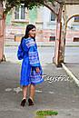 Платье вышиванка лен этно стиль бохо шик, вишите плаття вишиванка платье бохо, синее платье, фото 9