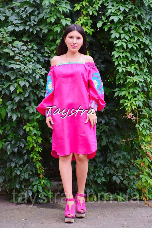 Туника платье вышиванка лен, стиль бохо шик, вишите плаття вишиванка, Bohemian,стиль Вита Кин