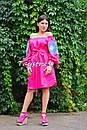 Туника платье вышиванка лен, стиль бохо шик, вишите плаття вишиванка, Bohemian,стиль Вита Кин, фото 7