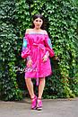 Туника платье вышиванка лен, стиль бохо шик, вишите плаття вишиванка, Bohemian,стиль Вита Кин, фото 9