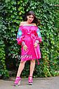 Туника платье вышиванка лен, стиль бохо шик, вишите плаття вишиванка, Bohemian,стиль Вита Кин, фото 3