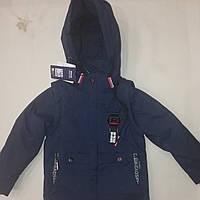 Детская демисезонная курточка для мальчика размер 128-152