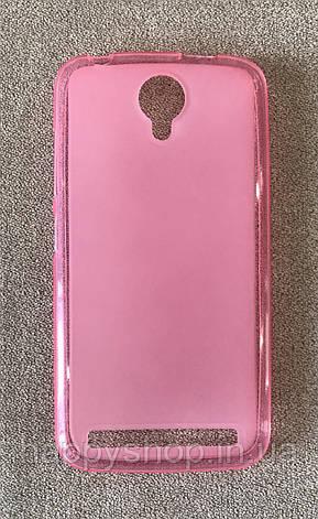 Силиконовый чехол-накладка для Fly IQ4410i (Розовый), фото 2