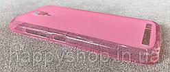 Силиконовый чехол-накладка для Fly IQ4410i (Розовый), фото 3