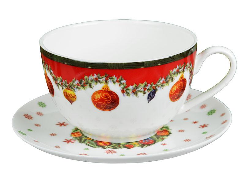 """Чайный набор 2 предмета """"Новогодняя коллекция"""" 250 мл, Lefard, 985-012"""