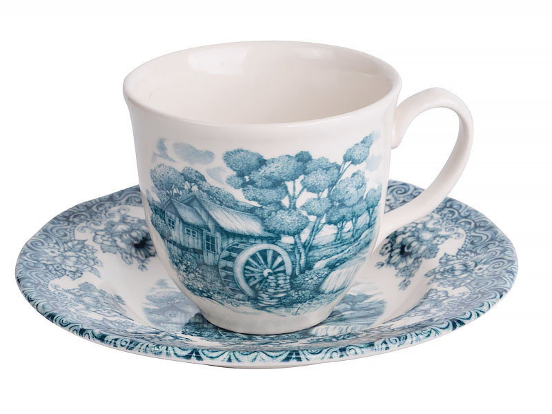 """Чайный набор """"Мельница изумрудная"""" 200 мл, 2 предмета, Lefard, 910-140"""