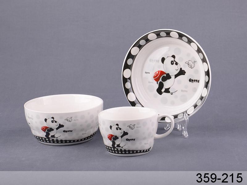 Набор детской посуды Lefard Панда 3 предмета, 359-215