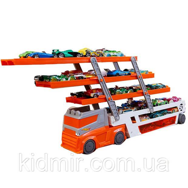 Хот Вілс Автовоз трейлер помаранчевий Hot Wheels Mega Hauler Orange