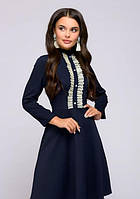 Строгое платье с длинным рукавом PR23, фото 1