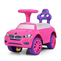 Детская каталка-толокар розово-фиолетовая 7661-8. Гарантия качества. Быстрая доставка.