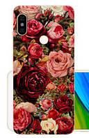 Силиконовый чехол бампер для Xiaomi Redmi Note 5 с картинкой Розы