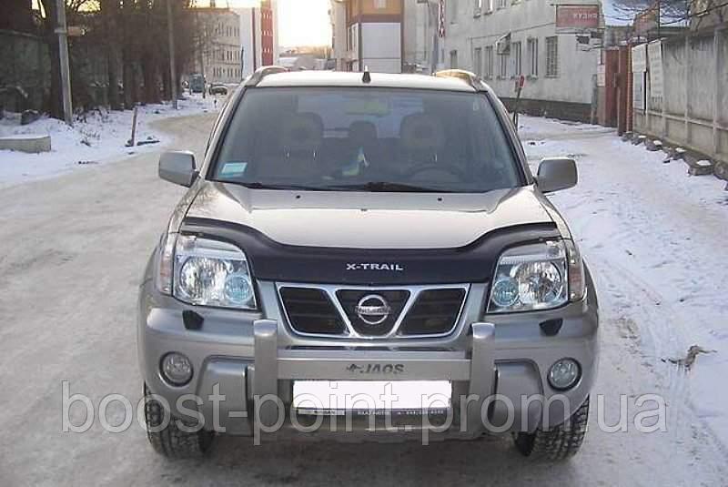 Дефлектор капота (мухобойка) Nissan X-Trail T-30 (ниссан икс-трейл 2000-2007)