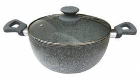 """Кастрюля с антипригарным покрытием """"Eco Granite"""" Con Brio 2,4л"""