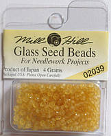 02039 бисер Mill Hill, 11/0 Matte Maize Glass Beads