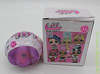 Куколка LOL в ракушке + акссесуары белая коробка