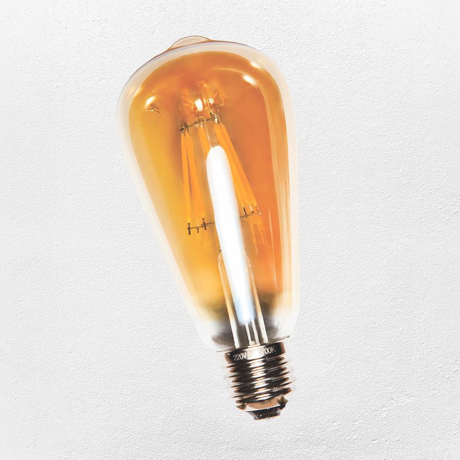 COW лампаЭдисона ST-64 LED (IC) 4W 2700K ( янтарная)