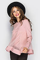 Блуза Барлета, блуза нарядная, блуза дизайнерская, розовая блуза, дропшиппинг, фото 1