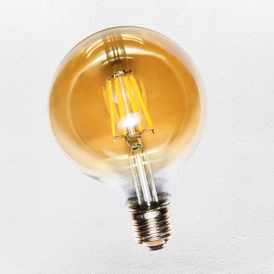 COW лампа led G-80 / 4W Amber 2300K  IC ( сапфировой нитью)