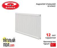 """Радиатор стальной, марки SANICA 500*1800 (произведен в: Турция, 33 кл, высота 500мм)"""""""