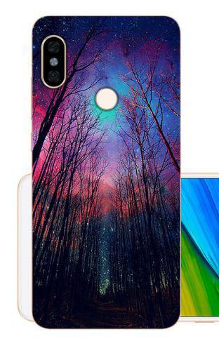 Оригінальний чохол накладка для Xiaomi Redmi Note 5 з картинкою Ліс космічне небо
