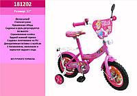 Велосипед 2-х колес 12 дюймов 181202 со звонком, зеркалом,без ручного тормоза