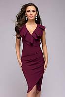 Платье на запах с оборкой PR33, фото 1