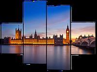 Модульная картина  Лондон. Вид с Темзы